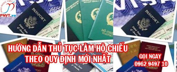 hướng dẫn thủ tục làm hộ chiếu