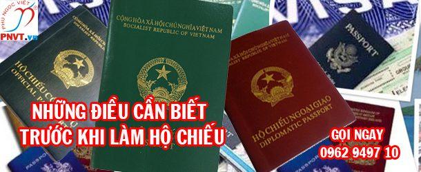 Những điều cần biết trước khi làm làm hộ chiếu